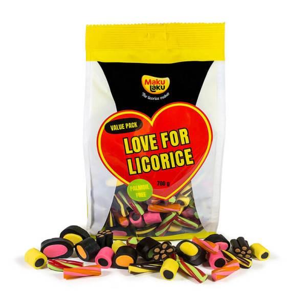 Makulaku Love for Licorice -pussi